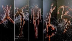Dance Collage (FotoFling Scotland) Tags: dancer ballet thong dance water man shirtless movement collage theatre male dancing italy theatrosancarlo moderndance jockstrap nmp