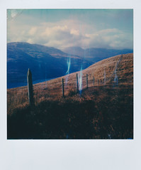 Highland Fence Line (ltpaperhouse) Tags: mint sx70 scotland polaroidweek polaroidoriginals polaroidcamera instantfilm instantphotography