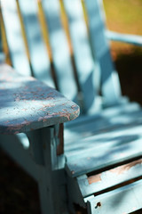 Waiting for Next Year (Anthony Mark Images) Tags: weathered crackedpaint wornpaint adirondackchair endoftheseason wellworn birdseggblue blue chair oldchair cottage fairhavens kawarthalakes ontario canada trentcanal nikon d850 flickrclickx fall autumn coloursoffall