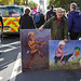 Corbyn and Johnson Cartoons, People's Vote Final Say March, Whitehall, London, 19 Oct 2019