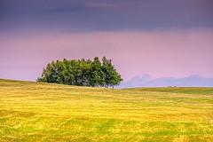 Sunset colors in Beskid Niski.