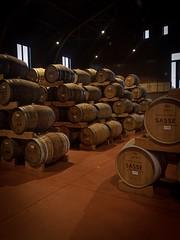 Sasse Distillery Warehouse (Schöppingen Germany) (VeitHausmann) Tags: whiskey whisky atmosphäre licht halle deutschland lager fässer fass brennerei münsterland westfalen schnaps korn