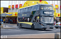 Blackpool Transport - SN17 MFJ (Tf91) Tags: alexander dennis enviro 400h city blackpool blackpooltransport blackpooltower promenade sn17mfj