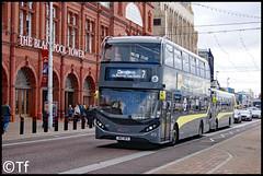 Blackpool Transport - SN17 MFK (Tf91) Tags: alexander dennis enviro 400h city blackpool blackpooltransport blackpooltower promenade sn17mfk