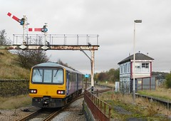 144010 - Hellifield, Yorkshire (The Black Country Spotter) Tags: hellifield railway station yorkshire northern northernrail class144 pacer railbus dmu diesel multipleunit 144010 networkrail britishrailways