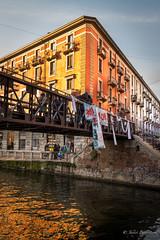 DSC_1578F (Javier_1972) Tags: naviglio grande canal navigliogrande milan milano italia agua reflejos edificios cielo puente calido lombardia europa