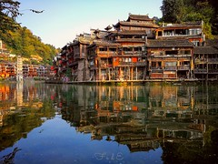 Reflections (Fesnap) Tags: reflection reflections river village antique antiquity antiquities china fenghuang d7000 nikon