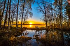 Kankarinjärvi (Arttu Uusitalo) Tags: sunset evening spring may lake lakescape lakeshore woods forest wideangle landscape pirkanmaa kihniö kankarinjärvi finland canon eos 5d mkiv scenic 2018 boat