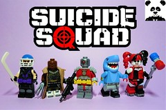 Suicide Squad (HaphazardPanda) Tags: lego figs fig figures figure minifigs minifig minifigures minifigure purist purists character characters comics comic book books story group super hero heroes superhero superheroes dc justice league suicide squad sportsmaster bronze tiger deadshot king shark harley quinn