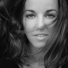 DSCF3139-8 (YouOnFoto) Tags: zwart witt black white portret portrait eyes ogen closeup dichtbij haar hair mooi beauty woman vrouw