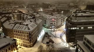 Snowy evening in Oslo, December 2017