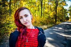 Cassandra-219 (TheseusPhoto) Tags: girl female woman red hair pose model modeling portrait portraiture artportrait fineartportrait fineart artportait artisticportrait colors light beautiful pretty sexy eyes face lovely glamour nature autumn trees newengland road woods forest naturephotography naturallight headshot hoodie necklace