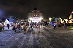 Night view (Liang Hung Ma) Tags: chiangkaishekmemorialhall night taipei canon5dmark4 sunday people's