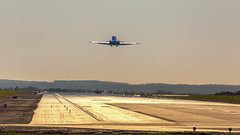 Take Off (mairmaximilian) Tags: bizzer jet takeoff runway avgee planespotter sunset
