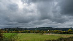 Cotswolds on the Horizon (velodenz) Tags: velodenz fujifilmx100f bristolbathrailwaypath route cycleway sustrans landscape cotswolds toghill bitton church countryside outside outdoors 1000views 1000 views dehors nature