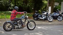 Shovelhead Chopper... (Harleynik Rides Again.) Tags: shovelhead chopper hardtail biker rider itshowweroll harleydavidson bike motorcycle moto backshot guildfordhd harleynikridesagain