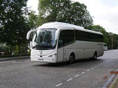 Creigiau Travel of Cardiff Scania K360IB4 Irizar i6 YN66VSN at Regent Road, Edinburgh, on 24 September 2019. (Robin Dickson 1) Tags: busesedinburgh scaniak360ib4 irizari6 yn66vsn creigiautravelofcardiff huytoncoachesofwidnesvisiontravel