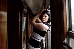 'Eleanor' (AndrewPaul_@Oxford) Tags: eleanor ecce bluebell railway british railways carriage coach corridor 1960s sixties fashion natural light