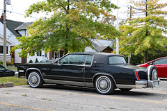 Black beauty (Can Pac Swire) Tags: toronto ontario canada canadian vintage classic car auto automobile gm generalmotors caddy caddilac eldorado 2019aimg8372 continental tire kit tyre