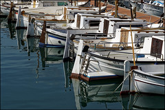 Small Boats   Blanes, Catalonia (Flemming J. Gade) Tags: boats harbour water reflections mirror blanes portdeblanes
