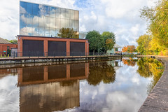 Autumn Reflections on the St. Helens canal (Steve Samosa Photography) Tags: sthelens england unitedkingdom canal autumnleaves autumncolours merseyside autumnreflections