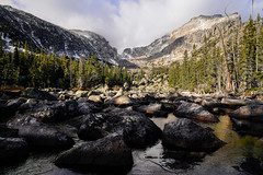 Chaos Canyon - Rocky Mountain National Park (Bernie Duhamel) Tags: chaoscanyon chaoticglacier rockymountains rockymountainnationalpark glaciergorge estespark ice snow bernie duhamel sonya7riii sonyfe2470mm greatphotographers frontrange teamsony clouds shadows creek frost frigid colorado mountains trees
