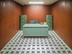 War room @ independence palace in Saigon (Phg Voyager) Tags: vietnam saigon hochiminhcity phgvoyager leica mp 24mm summilux room office empty 70s war city indoor palace independence asia color phones chair