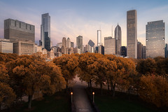 FALL AT THE HORIZON (Nenad Spasojevic) Tags: spasojevic explore drone fc6310 pov djiphotography fromabove exploration windycity nenadspasojevic cityscape nenadspasojevicart fallatthehorizon fall dronephotography aerial skyline exploring phanthom nenad 2018 droning city color perspective dji phanthom4pro downtown fallcolor flying architecture trees autumn park chicago illinois il