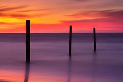 Three Sticks - Atlantic City Sunrise Long Exposure (Derek Boen) Tags: atlanticcity newjersey longexposure sunrise ocean sea smoothwater silhouette fotodiox wonderpana 5stopnd pentax sirui pentaxk1