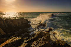 (Pawel Wietecha) Tags: sea water waves landscape clouds sunset sun sky blue red yellow orange lake travel trip color light colors vivid outside outdoor journey trapani italy europe rocks sicily