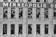 Rise & Fall: Abandoned factory in Minneapolis, Minnesota, October 1939. (polkbritton) Tags: johnvachon 1930s fsaowi minnesotahistory minneapolis libraryofcongresscollections architecture greatdepression libraryofcongress
