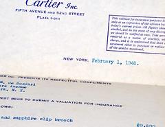 Cartier Inc. 1946 (donjuanmon) Tags: macro donjuanmon nikon macromondays hmm theme stationery cartier 1946 antique ephemera