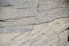 Faulted sandstone (Ericson Sandstone, Upper Cretaceous; hairpin curve roadcut along Superior Cutoff Road, east of Superior, Wyoming, USA) 4 (James St. John) Tags: normal fault faults ericson sandstone cretaceous superior wyoming crossbeds crossbedding crossbedded cross beds bedding bedded