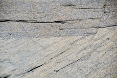 Faulted sandstone (Ericson Sandstone, Upper Cretaceous; hairpin curve roadcut along Superior Cutoff Road, east of Superior, Wyoming, USA) 2 (James St. John) Tags: normal fault faults ericson sandstone cretaceous superior wyoming crossbeds crossbedding crossbedded cross beds bedding bedded