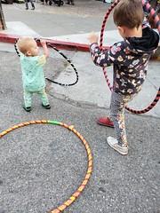 Hula hoopers (quinn.anya) Tags: sam kindergartener dancing eliza toddler hulahoop gratefuldeadfestival berkeley
