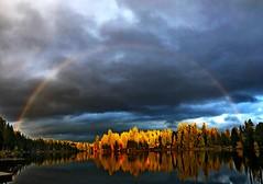 Sunset, Beaver Lake, Sammamish, WA 10/20/19 (LJHankandKaren) Tags: rainbow beaverlake sunset