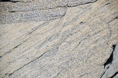 Faulted sandstone (Ericson Sandstone, Upper Cretaceous; hairpin curve roadcut along Superior Cutoff Road, east of Superior, Wyoming, USA) 5 (James St. John) Tags: normal fault faults ericson sandstone cretaceous superior wyoming crossbeds crossbedding crossbedded cross beds bedding bedded
