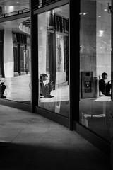 Taipei, Taiwan 台北,臺灣 (不著邊際的過路人) Tags: snapshot street photography candid bw bnw blackandwhite people dark streetphotography composition city urban taiwan 台灣 街頭攝影 黑白 單色 人文 紀實 線條 構圖 noir taipei 台北 contrast monochrome reflection window