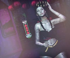 Night out (Anika ♥) Tags: michan blueberry inkhole ati ebeauty euphoric tableau vivant space honey movement foxcity pinkify the dark style fair epiphany secondlife sl avatar