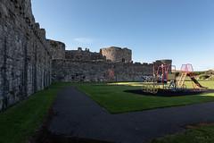 Castle Walls (Jocey K) Tags: unescoworldheritagesite triptoukanderoupe2019 uk sky building castle playground june wales architecture moat beaumaris castlebeaumaris