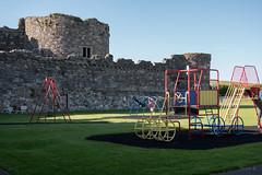 On Castle Grounds (Jocey K) Tags: unescoworldheritagesite uk sky building castle playground june wales architecture moat beaumaris castlebeaumaris triptoukanderoupe2019