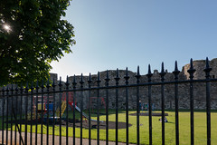 Evening Light (Jocey K) Tags: unescoworldheritagesite uk sky building castle playground june wales architecture fence moat beaumaris castlebeaumaris triptoukanderoupe2019