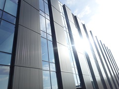 New monolith building in Preston (Tony Worrall) Tags: preston engineer uclan students study wall sunlit architecture building buy sell sale bought item stock ilobsterit instagram lancashire northern lights north northwest lines block new modern shine sunny engineering urban location place visit
