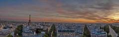 La torre vista desde el Arco del Triunfo (gabrielvalerio@live.com.ar) Tags: paris torreeiffel torre eiffel francia france viaje travel atardecer sunset arc de triomphe arco del triunfo panorámica panoramic ciudad city nikon nikond7500 d7500 sigma 1750
