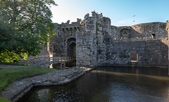 Beaumaris Castle (Jocey K) Tags: unescoworldheritagesite uk june wales moat beaumaris triptoukanderoupe2019 bridge sky building tree castle water architecture reflections castlebeaumaris