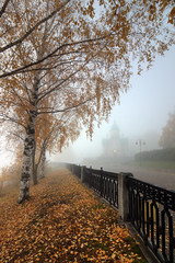 fall is in the air (Sergey S Ponomarev) Tags: sergeysponomarev canon eos 70d efs1018mmf4556isstm nature natura autumn fall 2019 hdr highdynamicrange landscape paysage paesaggio kirov russia russie north october foliage church christian fence lamps lanterns morning fog mist sunrise stroll walk trees park perspective сергейпономарев природа город citta city пейзаж киров вятка осень утро туман церковь ограда прогулка рассвет фонари