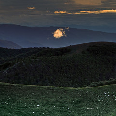 One glowing cloud (Robyn Hooz) Tags: glow cloud cesen alpi prealpi alba bosco nuvola veneto