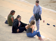 Kids on the prom at Blackpool (Tony Worrall) Tags: blackpool fylde english british lancashire encounter northern north northwest kids youth young nice fine place location street streetphotography candid relax prom beach seashores buy sell sale bought item stock ilobsterit instagram account group visit youngsters gang people man female woman