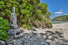 Sea & Spirit (twomphotos) Tags: okinawa japan sea ocean blue culture nature tokashiki temple shrine bestoftrips