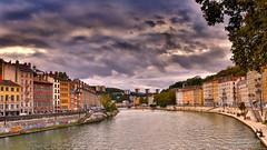 Lyon -1B3A3623 (mg photographe) Tags: lyon saône quais nuages couleurs immeubles paysage rhône